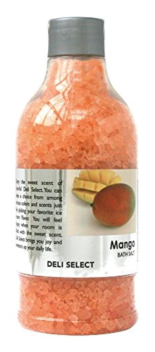 恥ずかしさたっぷり潜むデリセレクト バスソルト マンゴー 350g(塩タイプ入浴料)