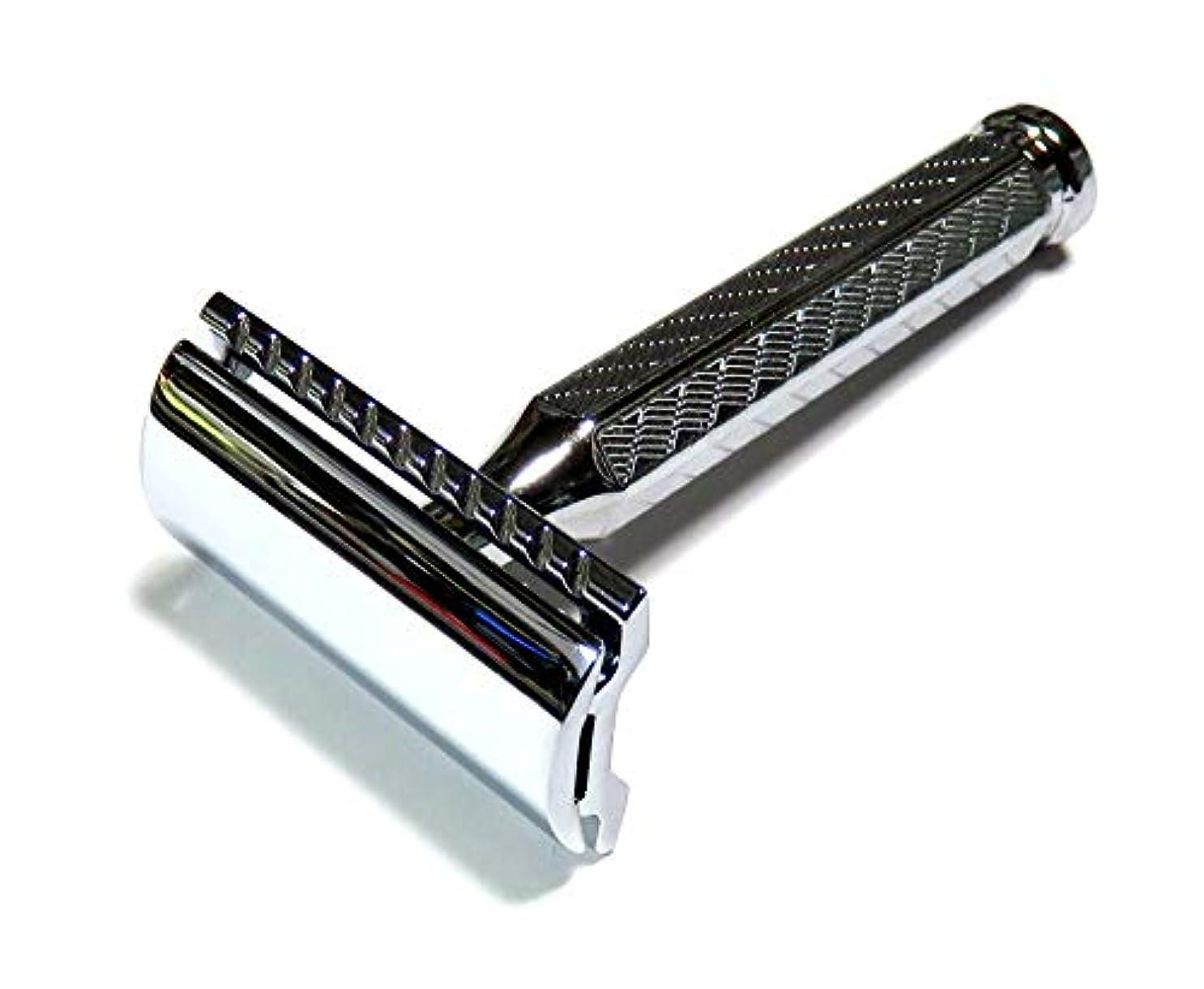 漏斗小数用心するMERKUR Solingen - Safety razor, chromed, closed comb, 9042001
