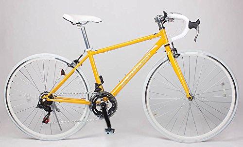 21Technology 700cロードバイク シマノ製14段変速ギヤ付き (CL27-700) (イエロー/ホワイト)