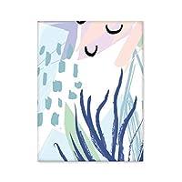 植物の海の抽象的な植物の芸術のパターン 台所のタイルタイルが装飾を飾る