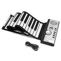 デジタルピアノ、折りたたみ式61のキーの適用範囲が広く柔らかい電気デジタルはキーボードのピアノを転がします