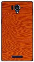 液晶保護フィルム付 AQUOS SERIE [SHL25] アクオス セリエ SHL25 ハードケース ハード カバー Wood(木目調)type005