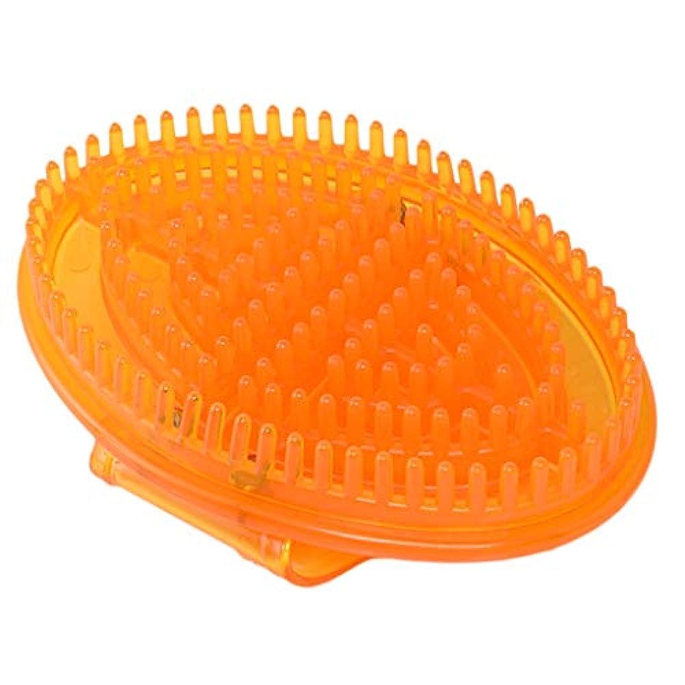 眠り適応的したいマッサージブラシ ボディ セルライト ハンドタイプ 頭皮マッサージャー メリディアンマッサージ 全5色 - 黄