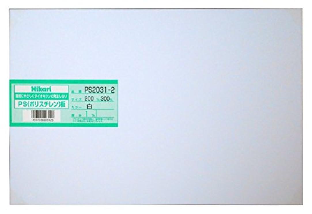 大型トラック届けるフリッパー光 PS板 白 200×300×1.0mm PS2031-2