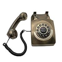 電話アンティーク電話ビンテージレトロ電話メタル電話、音量調整のコールリマインダー