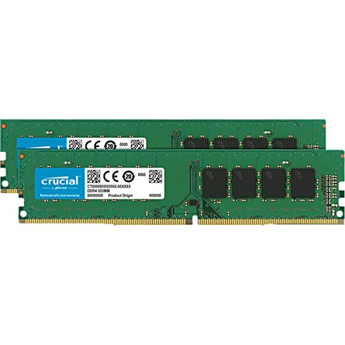 Crucial- Micron デスクトップ用 DDR4 PC4-19200 CL17 片面実装 288pin 8GB 2枚組み