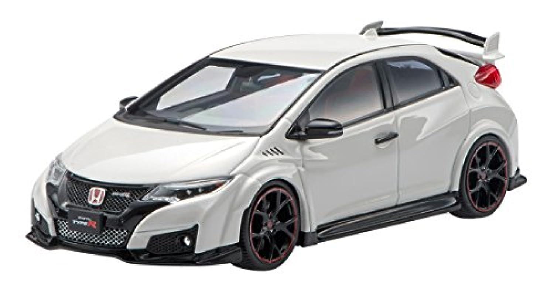 エブロ 1/43 Honda CIVIC TYPE R 2015 (Japanese License Plate) Championship White 完成品