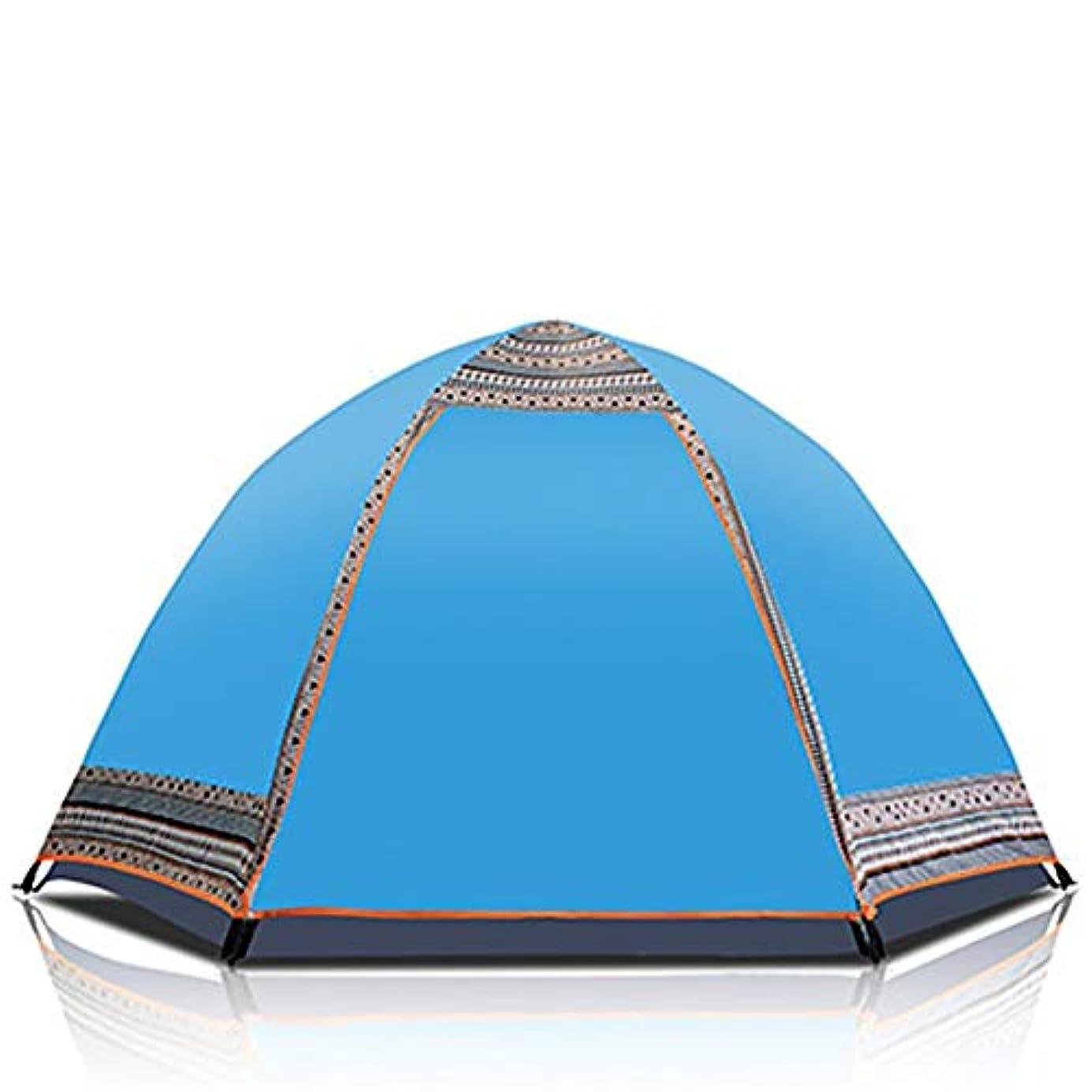 カポックパパ市民キャンプのための防水おおいをセットアップすること容易な3から4人の自動開始の六角形の油圧二重層のテントのためのポップアップテント