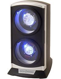 SUNNBRAND ワインディングマシーン 縦型ツインワインダー ライト付 ブラック KA015-BK