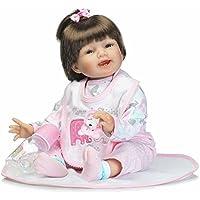 NPK Realistic Rebornベビー人形22インチソフトシリコンSmile Girl So Truly Baby Dollsの滑らかな髪DIY子供誕生日ギフト人形おもちゃ