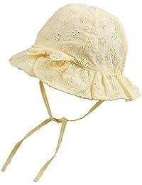 XIAOHAWANGベビー 帽子 夏 赤ちゃん ハット ?綿麻の裏面?夏の定番? サファリハット 女の子 日よけ帽子 サンハット UV帽子 紫外線対策 通気性?汗吸収よくコットン帽子