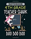 Notebook: 3th 3st third grade teacher shark doo doo doo gift - 50 sheets, 100 pages - 8 x 10 inches