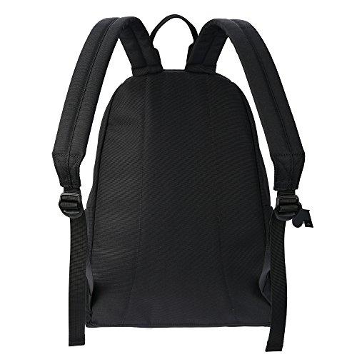 MIXI(ミシ)双肩バッグ 中学生 高校生 通学 多機能 PCバッグ 防水 男女兼用 (M, ブラック)