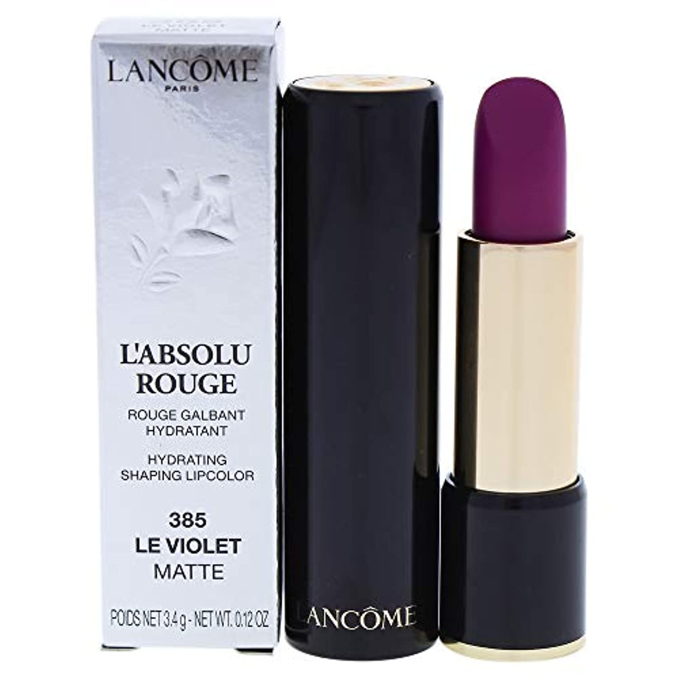泣き叫ぶ温帯にランコム L' Absolu Rouge Hydrating Shaping Lipcolor - # 385 Le Violet (Matte) 3.4g/0.12oz並行輸入品