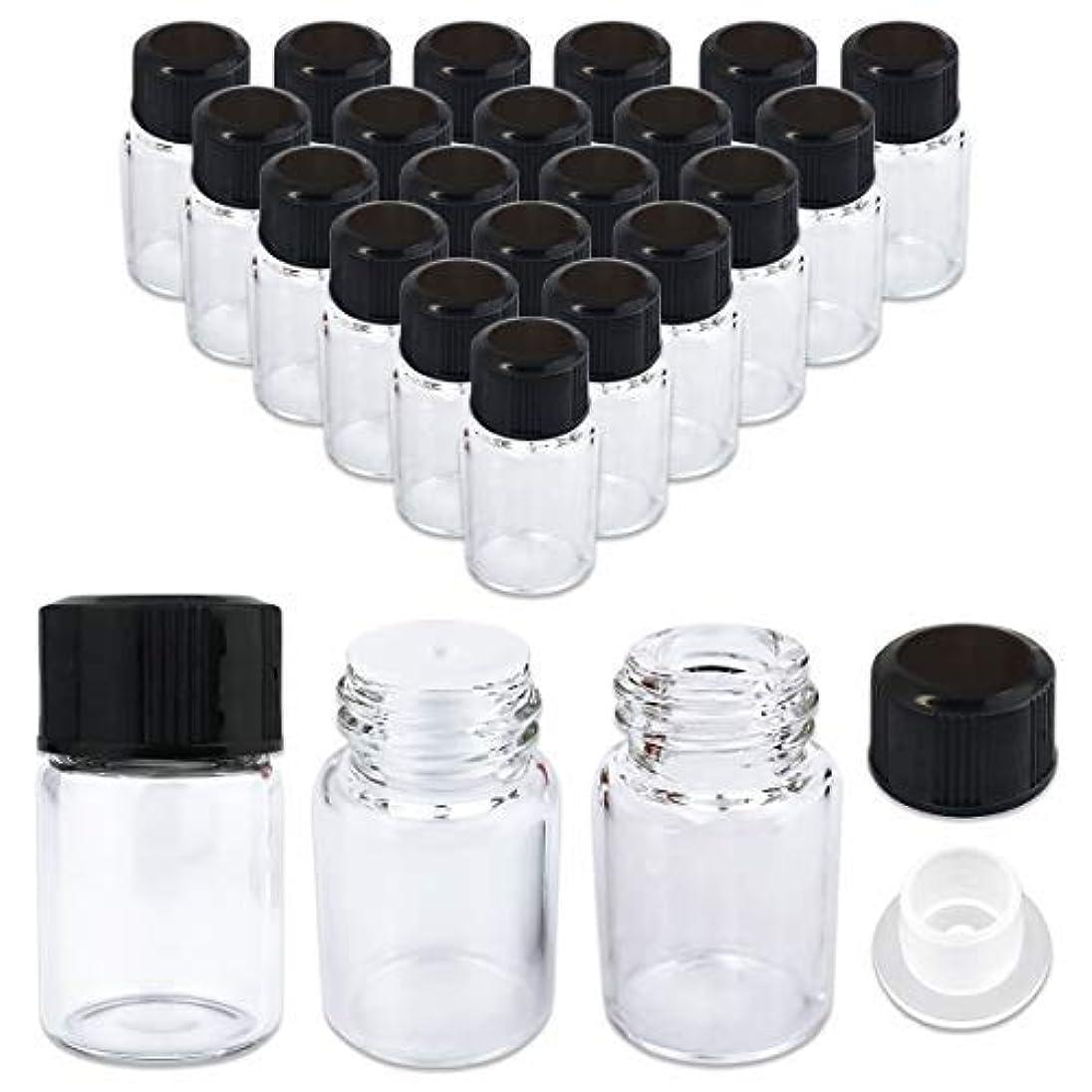チラチラする排出バルセロナ24 Packs Beauticom 2ML Clear Glass Vial for Essential Oils, Aromatherapy, Fragrance, Serums, Spritzes, with Orifice Reducer and Dropper Top [並行輸入品]