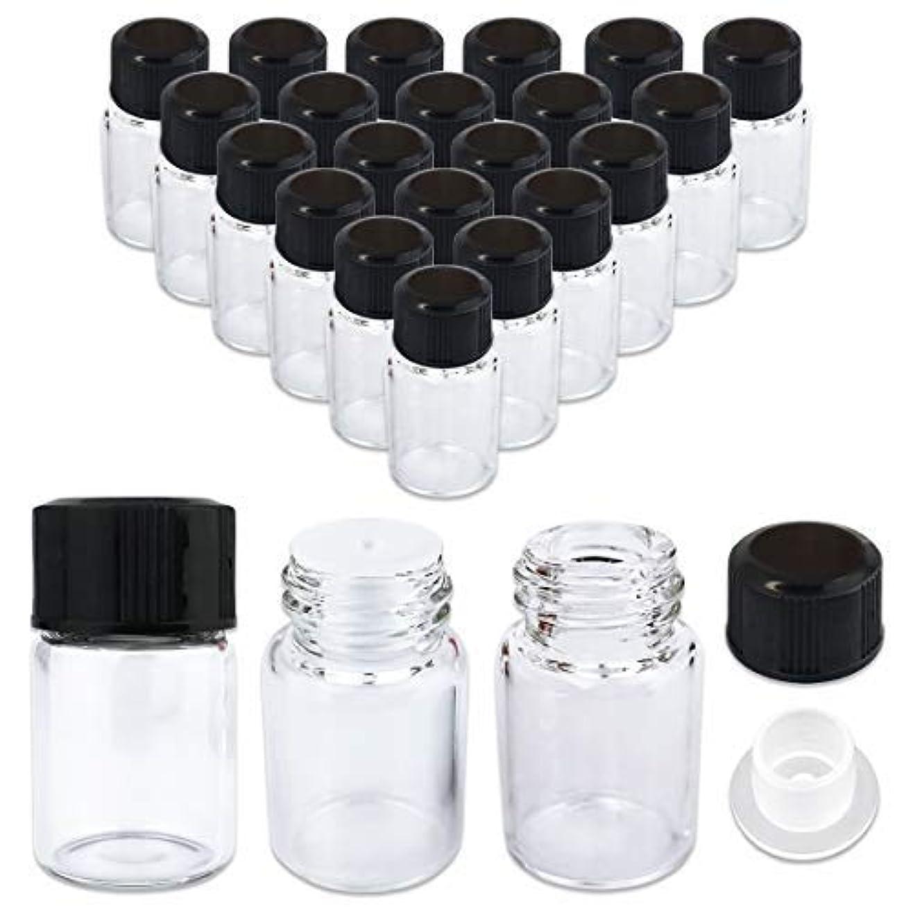 材料賛美歌アンテナ24 Packs Beauticom 2ML Clear Glass Vial for Essential Oils, Aromatherapy, Fragrance, Serums, Spritzes, with Orifice Reducer and Dropper Top [並行輸入品]
