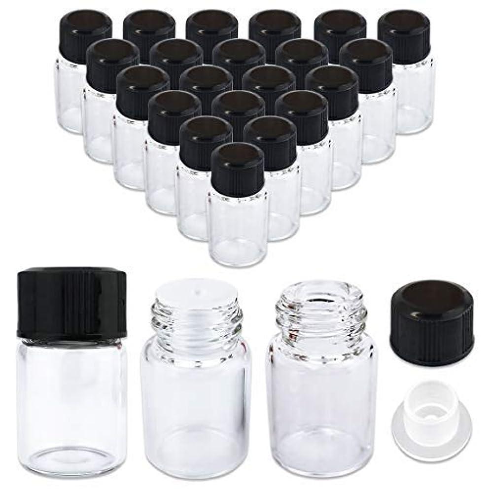 うぬぼれた試験可動式24 Packs Beauticom 2ML Clear Glass Vial for Essential Oils, Aromatherapy, Fragrance, Serums, Spritzes, with Orifice...