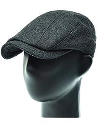 [PLIC N PLOC]EMH17.ソリッドウール混メンズベレー帽 ハンチング フラットキャップ帽子 鳥打ち帽 秋 冬