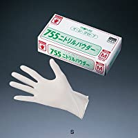 オカモト イージーグローブ ニトリルパウダー No.755 (粉付)(100枚入) S 全長24cm