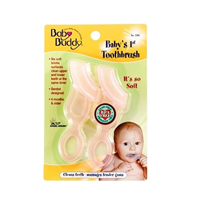 電池飛行場修道院Baby Buddy Baby's 1st Toothbrush 2ct (Pink)