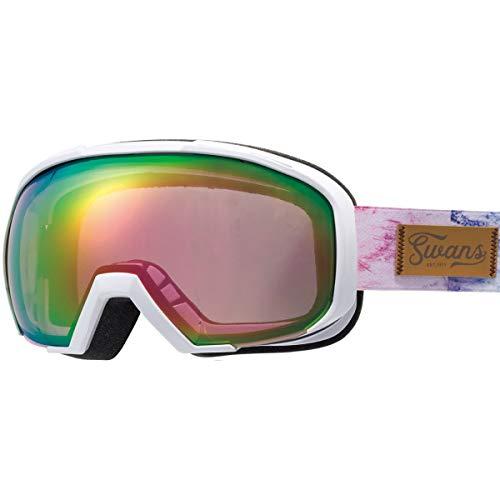 SWANS(スワンズ) スキー スノーボード ゴーグル くもり止め メガネ使用可 ミラー スキー スノーボード 080-MDHS GLW