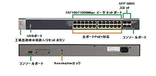 NETGEAR GSM7224P 【ライフタイム保証】24ポート PoE+ L2+ ギガビット フルマネージスイッチ GSM7224P-100AJS