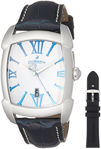 [オロビアンコ] 腕時計 TIME-ORA レッタンゴラ ブランド公式PUバンドノベルティ付き OR-0012-15PU 正規輸入品