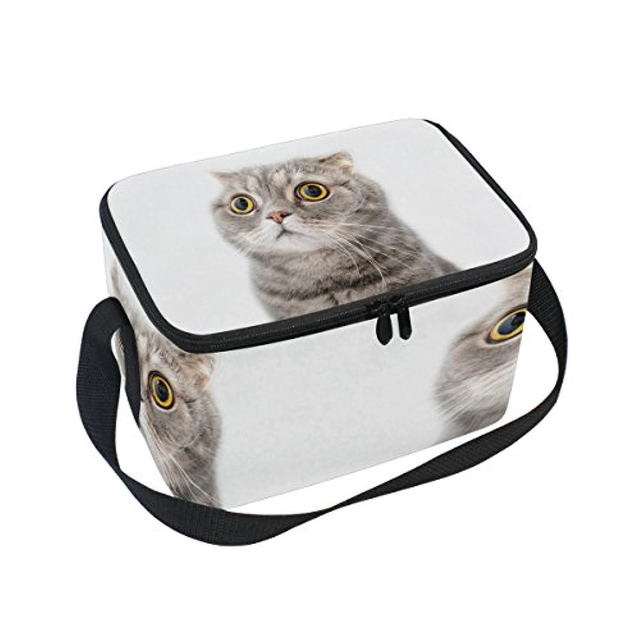正直クルーズ同種のクーラーバッグ クーラーボックス ソフトクーラ 冷蔵ボックス キャンプ用品  太い猫柄 丸い目 可愛い 保冷保温 大容量 肩掛け お花見 アウトドア