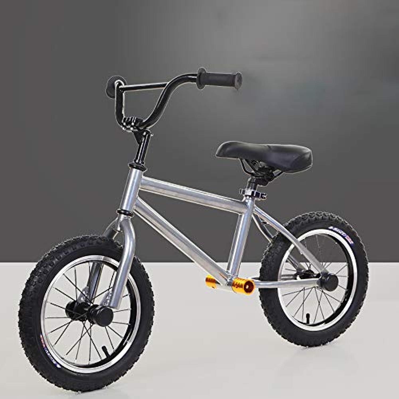 WANGPIPI子供用バランスバイク、ペダルなし二輪車用子供用バランスカー環境に優しい素材のゴム製ホイール自転車14インチ2?6歳の子供に適した
