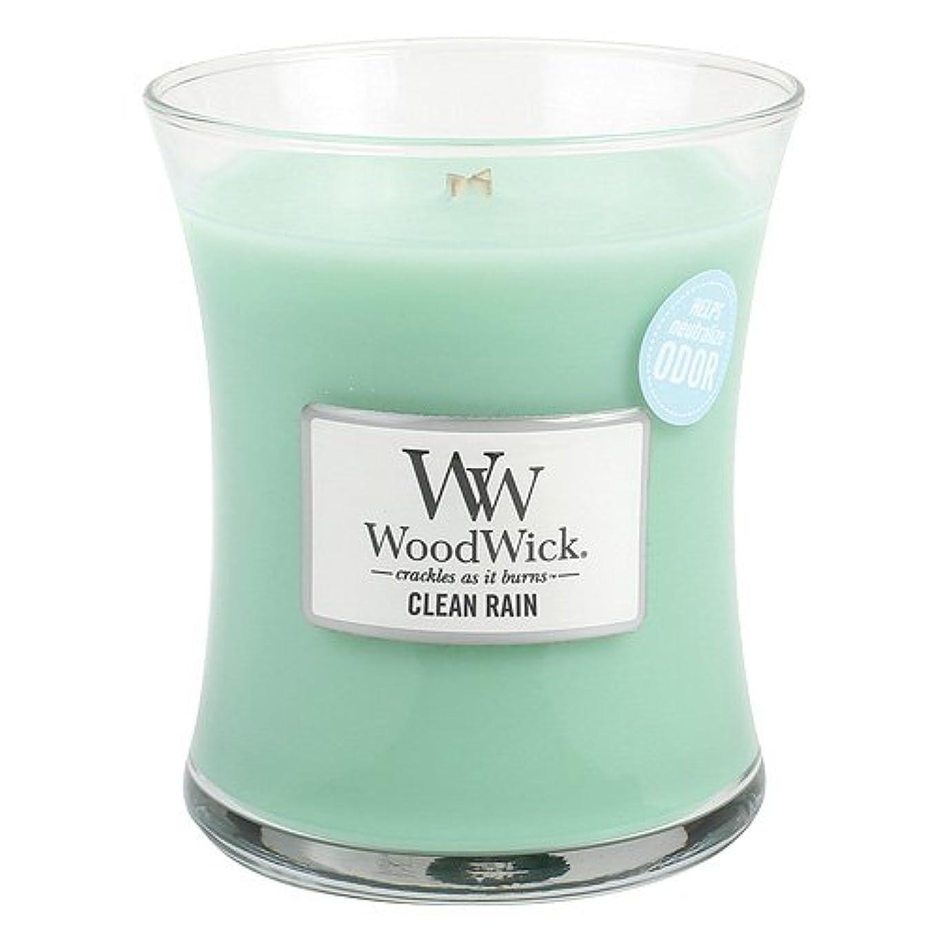 いたずらなマインドフル冷酷なクリーン雨WoodWick ODOR NEUTRALIZING 9.7オンス香りつきJar Candle