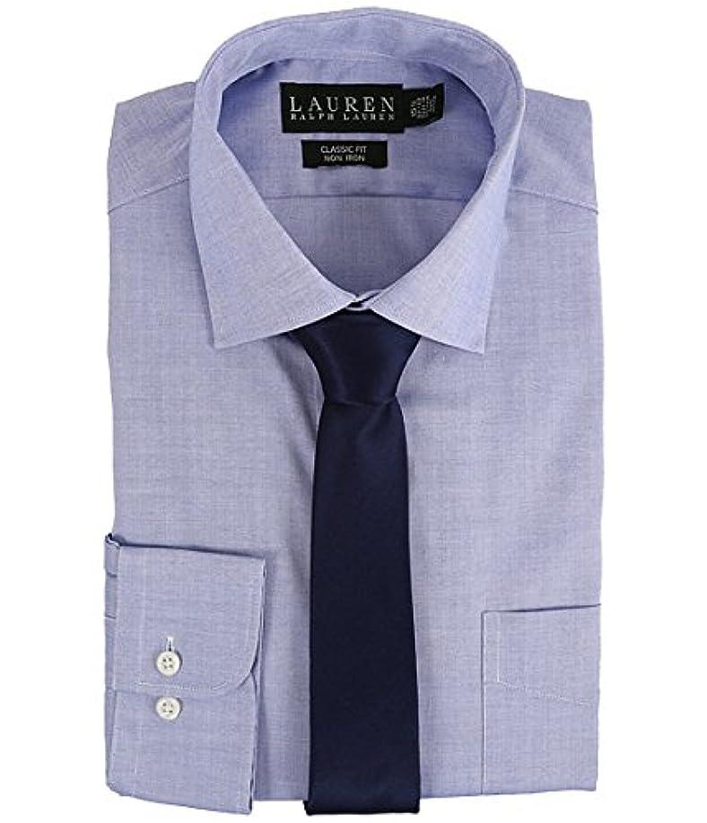パブ誓い測定(ローレンラルフローレン) LAUREN Ralph Lauren Yシャツ?ボタンダウンシャツ Pinpoint Spread Collar Classic Button Down Shirt Blue 17.5 x...