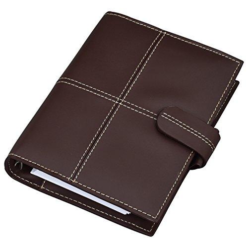 (ラファエロ) Raffaello 一流の革職人が作る エグゼクティブレザーで製作したシステム手帳 リフィル付き (ダークチョコ)