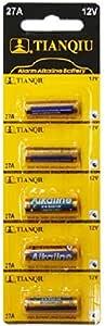 TIANQIU アルカリ乾電池12V-27A 1シート 5個入り A27 G27A