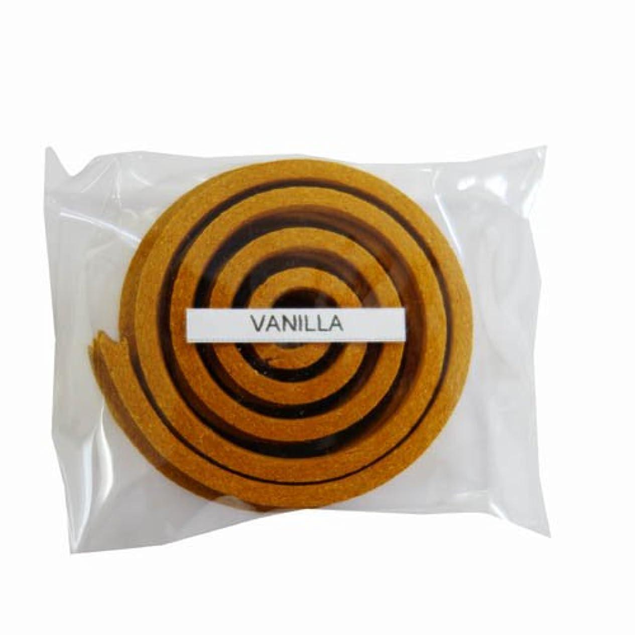 パラメータ発揮する同封するお香/うずまき香 VANILLA バニラ 直径5cm×5巻セット [並行輸入品]