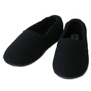 介護シューズ あゆみ エスパド 室内用 ブラック Lサイズ(23.5~24.5cm) 足囲3E相当 両足