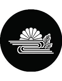 家紋シール 葉付き菊水紋 布タイプ 直径40mm 6枚セット NS4-2987