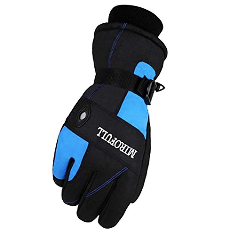 男性のための暖かい防風防水スキーグローブスキーギアウィンタースポーツ手袋、03