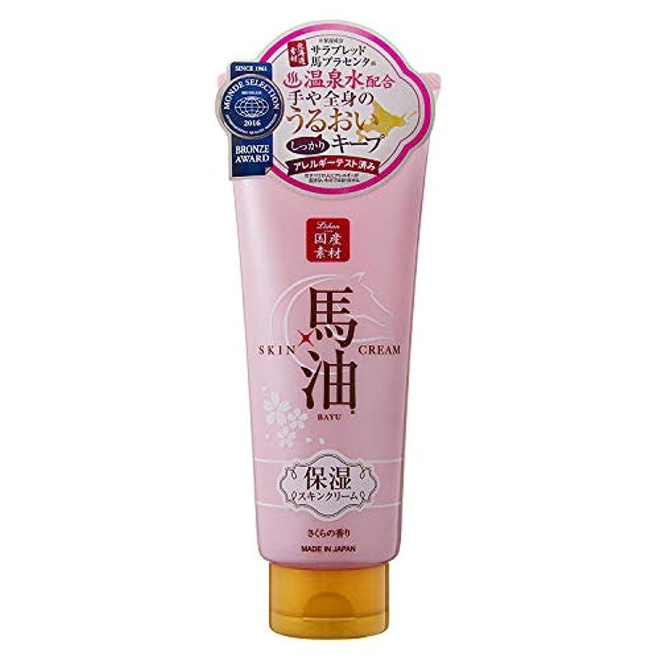 バスルーム現実的かすれたナヴィス リシャン馬油保湿スキンクリーム さくらの香り 200g