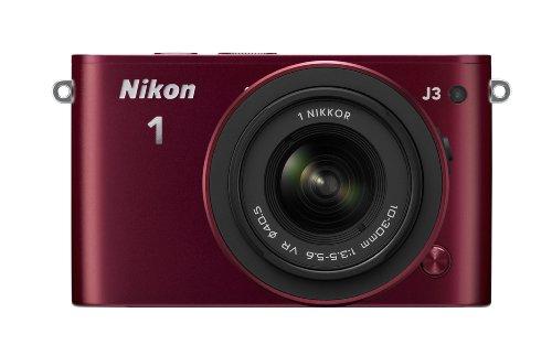 Nikon ミラーレス一眼 Nikon 1 J3 標準ズームレンズキット1 NIKKOR VR 10-30mm f/3.5-5.6付属 レッド N1J3HLKRD