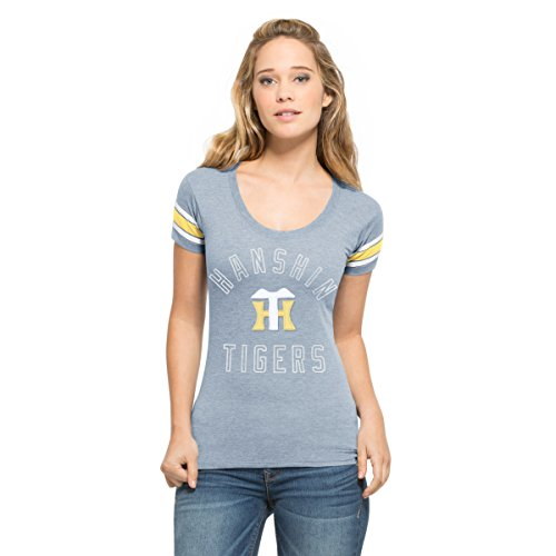 '47(フォーティーセブン) Tシャツ 阪神タイガース 47 ウィメンズ ファンタスティ キャンプズ スクープ NP004TWFANS278743CU クルーザーブルー S