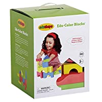 エドシェイプ ブロック 80個セット おもちゃ カラフル ソフト ブロック EduShape 716576