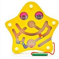 1 Pcs Parent-Child Interactive Games,Small Starfish Shape Magnetic Brush Maze,Attract Baby In The Maze Of Tunnels From Start To Finish,Classic Colorful Early Educational Baby Intelligence game toys by Update Everyday