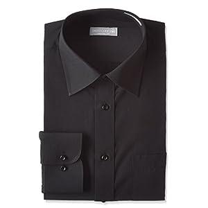レギュラーカラー 長袖ワイシャツ Mサイズ