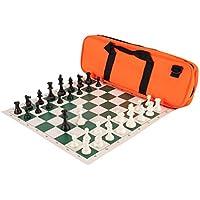 Deluxe Chess Set Combination - Solid Plastic - Orange