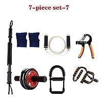 フィットネス機器セット、ホーム男性の腕のバー多機能フィットネス機器、体重腕を失う組み合わせ腹筋トレーニング、腹部の筋肉,7,50KG