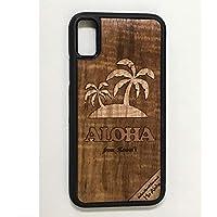 iPhone X/XS カバー 【 パームツリー 】 ハワイ スマホ ケース 【 Ho Aloha 】 ハワイアン コアウッド アイフォン ケース