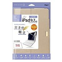 iPad 9.7inch (2018) 用 エアリーカバー ゴールド 42342