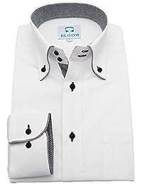 (ブルーム) BLOOM 2018秋冬 オリジナル 長袖 ワイシャツ S/M/L/LL/3L/4L/5L/6L 10柄 形態安定 ドゥエボットーニ ボタンダウン