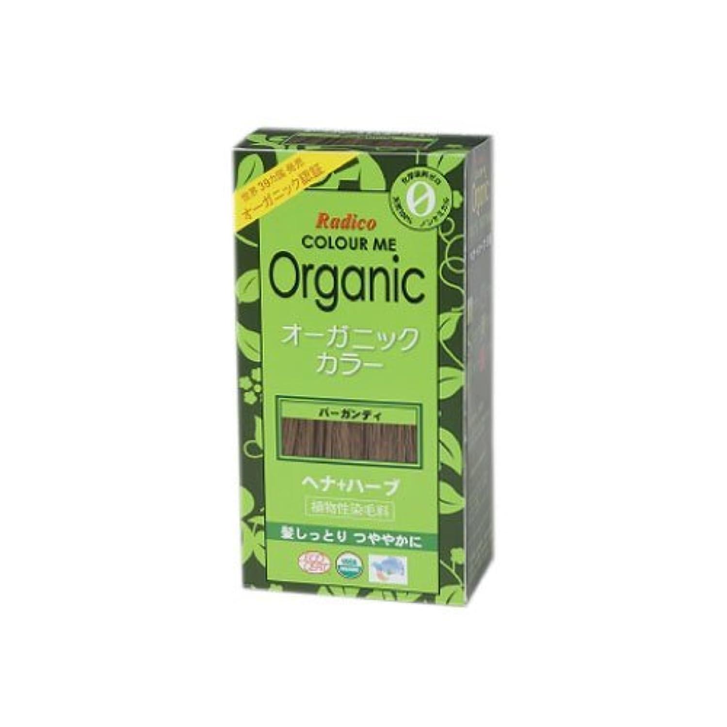 繰り返し花火上院COLOURME Organic (カラーミーオーガニック ヘナ 白髪用) バーガンディ 100g