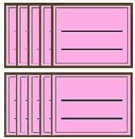 カラーライン ラベルセット-L ピンク